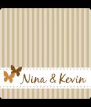 Klebe-Etiketten Vintage Stripes 50 x 50 mm braun