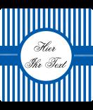 Klebe-Etiketten Candy Stripes 50 x 50 blau personalisieren