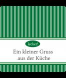 Klebe-Etiketten Vintage Stripes 50 x 50