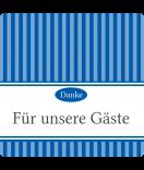 Klebe-Etiketten Vintage Stripes blau 50 x 50