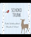 Weihnachtsetiketten Sweet Christmas 50 x 50 mm Vogel