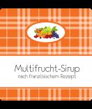 Klebe-Etiketten Sweet Fruits Multifrucht 50 x 50 mm orange