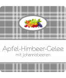 Klebe-Etiketten Sweet Fruits 50 x 50 mm Mehrfrucht grau