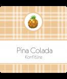 Klebe-Etiketten Sweet Fruits Ananas 50 x 50 mm