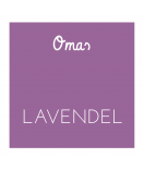 Omas Klebe-Etiketten lavendel 50 x 50 mm