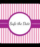 Klebe-Etiketten Candy-Stripes 50 x 50 rosa personalisieren