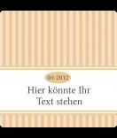 Klebe-Etiketten Vintage Stripes natur 50 x 50