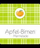 Klebe-Etiketten Sweet Fruits 50 x 50 mm Apfel grün