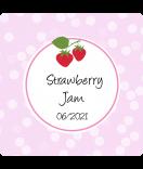 Erdbeer Etiketten Sweet Fruits 50 x 50 mm
