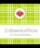 Klebe-Etiketten Sweet Fruits Erdbeere 50 x 50 mm