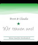 Klebe-Etiketten Ombres 50 x 50 mm grün