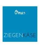 Omas Klebe-Etiketten blau 50 x 50 mm