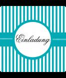 Klebe-Etiketten Candy Stripes 50 x 50 türkis personalisieren