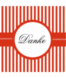 Klebe-Etiketten Candy Stripes 50 x 50 mm rot