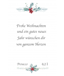Aufkleber Rustic Christmas 55 x 85 mm weiß