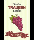 Trauben Etiketten Farmers Market 55 x 85 mm