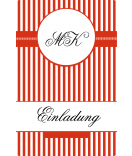 Klebe-Etiketten Candy Stripes 55 x 85 mm rot