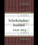 Aufkleber Vintage Stripes braun 55 x 85 mm
