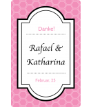 Klebe-Etiketten Frame 55 x 85 mm rosa