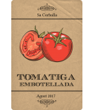 Vintage Etiketten Farmers Market 55 x 85 mm Tomate kraft