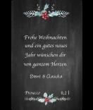 Aufkleber Rustic Christmas 55 x 85 mm chalkboard