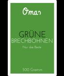 Omas Klebe-Etiketten Bohnen