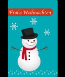 Klebe-Etiketten Frosty 55 x 85 mm türkis