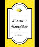 Klebe-Etiketten Bumble Bee 55 x 85 mm gelb