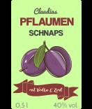 Pflaumen Etiketten Farmers Market 55 x 85 mm