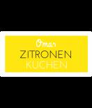 Omas Klebe-Etiketten gelb 60 x 30 mm