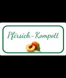 Etiketten für Einmachgläser Ilona's Finest Pfirsich 60 x 30