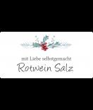 Klebe-Etiketten Rustic Christmas 60 x 30 mm weiss