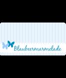 Klebe-Etiketten Vintage Stripes 60 x 30 mm blau