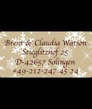 Klebe-Etiketten Snowflakes 60 x 30 mm braun
