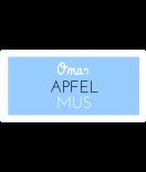 Omas Klebe-Etiketten hellblau 60 x 30 mm