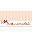 Klebe-Etiketten Vintage Stripes 60 x 30 mm peach