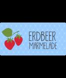 Klebe-Etiketten Sweet Fruits 60 x 30 mm Erdbeer hellblau