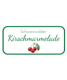 Etiketten für Einmachgläser Ilona's Finest Kirsche 60 x 30
