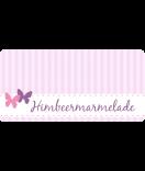 Klebe-Etiketten Vintage Stripes 60 x 30 mm rosa