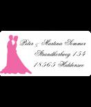 Klebe-Etiketten Forever Love 60 x 30 mm rosa