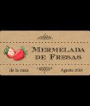 Vintage Etiketten Farmers Market 60 x 30 mm Erdbeer kraft