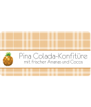 Aufkleber Sweet Fruits Ananas 60 x 30 mm