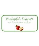 Etiketten für Einmachgläser Ilona's Finest Apfel 60 x 30