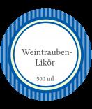 Klebe-Etiketten rund Vintage Stripes blau 60 mm