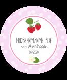 Erdbeer Etiketten rund Sweet Fruits 60 mm