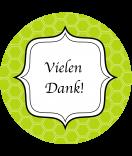 Klebe-Etiketten Frame rund 60 mm grün