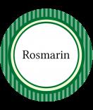 Klebe-Etiketten rund Vintage Stripes grün 60 mm