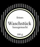 Klebe-Etiketten rund Vintage Stripes schwarz 60 mm