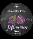 Pflaumen Etiketten rund Farmers Market Chalkboard 60 mm