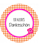 Klebe-Etiketten rund Polka Dots 60 mm orange-pink